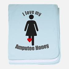 I Love my Amputee Honey baby blanket