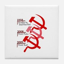 Russian Hammer And Sickle Emblem Tile Coaster