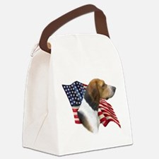 AmFoxhoundFlag.png Canvas Lunch Bag