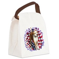 AmStaffPatriot.png Canvas Lunch Bag