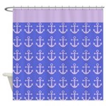 Nautical Anchor Pattern Shower Curtain