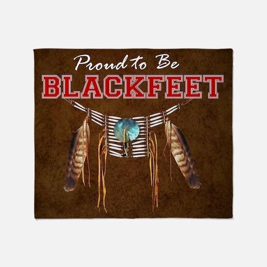 Proud to be Blackfeet Throw Blanket