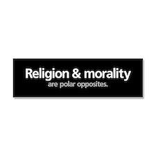 Cute Religion is a mental illness Car Magnet 10 x 3