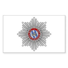 Crown of Bavaria Rectangle Decal