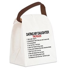 Dating My Daughter - The Rules Canvas Lunch Bag