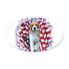 BeaglePatriot.png Oval Car Magnet