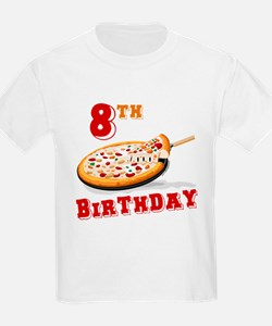8th Birthday Pizza Party T-Shirt