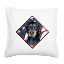 BlackandTanFlag2.png Square Canvas Pillow