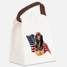 BloodhoundFlag.png Canvas Lunch Bag