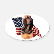 BloodhoundFlag.png Oval Car Magnet