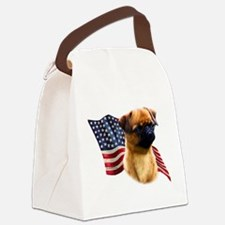 BrusselsGriffFlag.png Canvas Lunch Bag