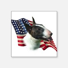 "BullTerrierFlag.png Square Sticker 3"" x 3"""