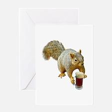 Squirrel Mug Beer Greeting Card