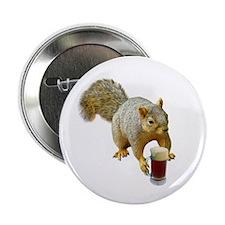 "Squirrel Mug Beer 2.25"" Button"