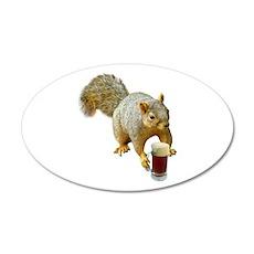 Squirrel Mug Beer Wall Decal