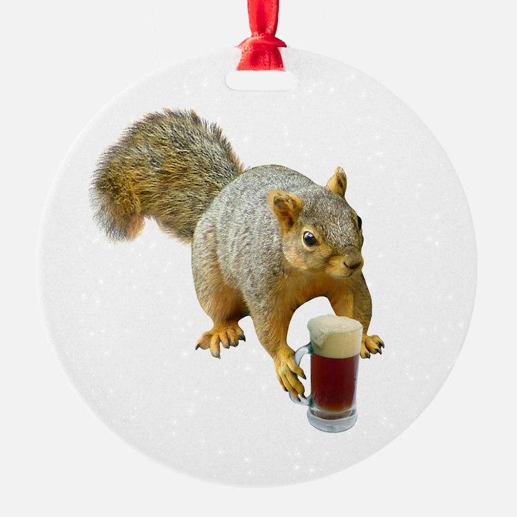 Squirrel Mug Beer Ornament