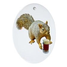 Squirrel Mug Beer Ornament (Oval)
