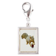 Squirrel Mug Beer Silver Portrait Charm