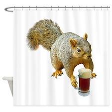 Squirrel Mug Beer Shower Curtain