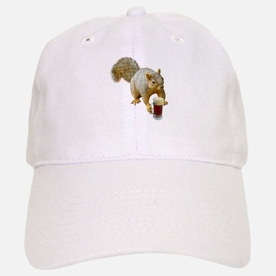 Squirrel Mug Beer Baseball Baseball Cap
