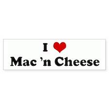 I Love Mac 'n Cheese Bumper Bumper Sticker
