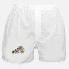Watercolor Wolf Parent Cubs Boxer Shorts