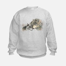 Watercolor Wolf Parent Cubs Jumpers