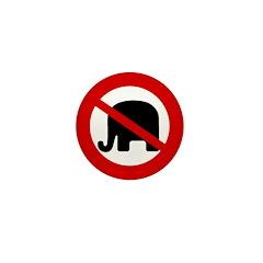 100 Slash Through Elephant Mini Buttons