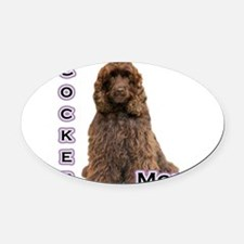 CockerbrownMom4.png Oval Car Magnet