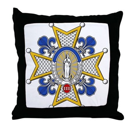 Charles III Grand Cross Throw Pillow