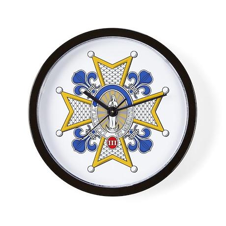 Charles III Grand Cross Wall Clock