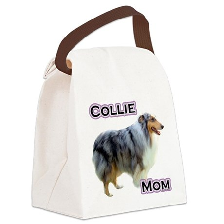 CollieMom4.png Canvas Lunch Bag