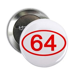 Number 64 Oval Button
