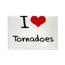 I love Tornadoes Rectangle Magnet