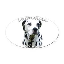DalmatianblackMom.png Oval Car Magnet