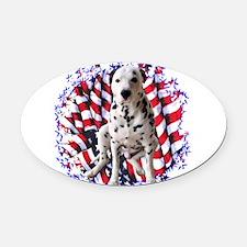 DalmatianPatriot.png Oval Car Magnet