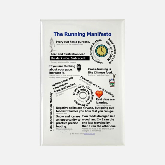 The Running Manifesto v2.0 - Mini Magnets