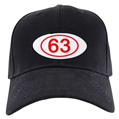 Number 63 Oval Baseball Hat
