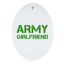 army-girlfriend-clean-green Ornament (Oval)