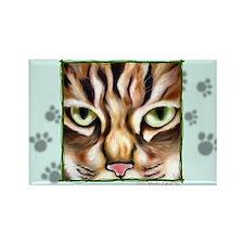 """Love Cat"" Rectangle Magnet"