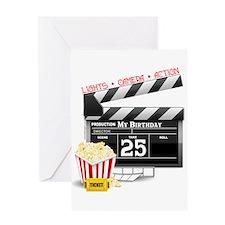 Hollywood Movie 25th Birthday Greeting Card