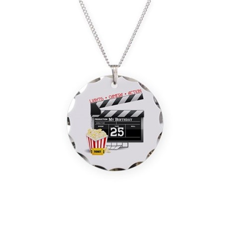 Hollywood Movie 25th Birthday Necklace Circle Char