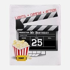 Hollywood Movie 25th Birthday Throw Blanket