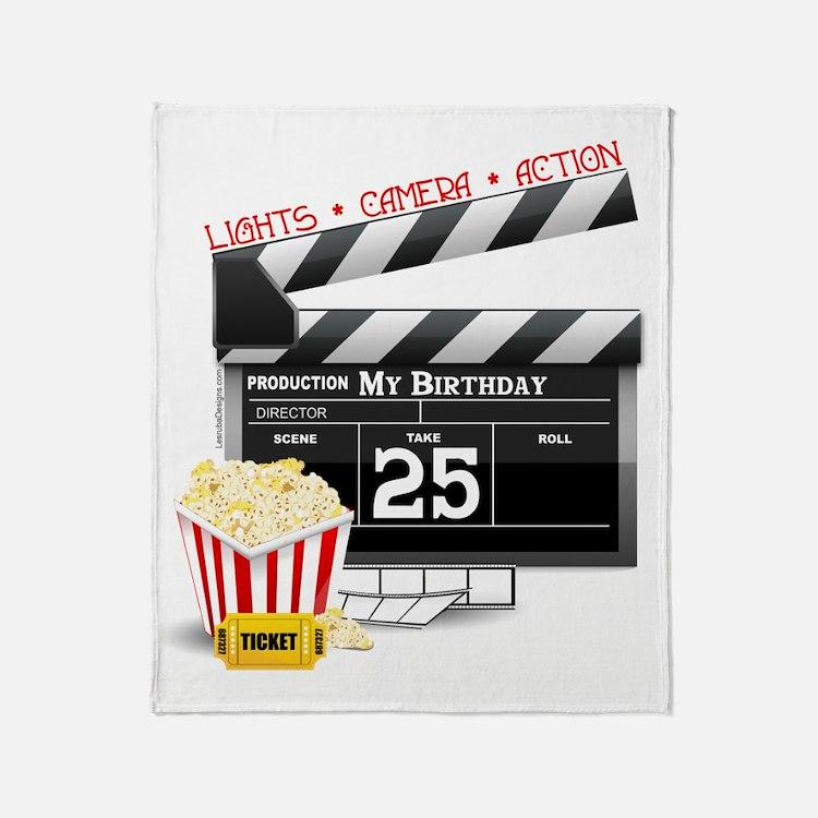 Hollywood Movie 25th Birthday Throw Blanket
