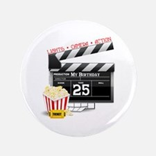 "Hollywood Movie 25th Birthday 3.5"" Button"