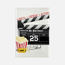 Hollywood Movie 25th Birthday Rectangle Magnet