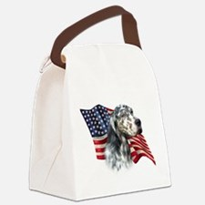 EnglishSetterFlag.png Canvas Lunch Bag