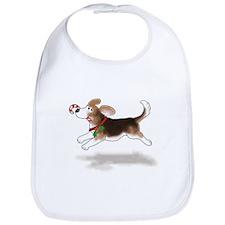 Holiday Beagle Bib