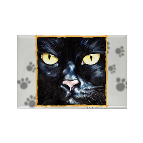 """Love Cat"" Rectangle Magnet"