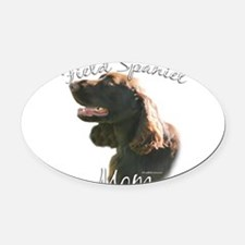 FieldMom.png Oval Car Magnet